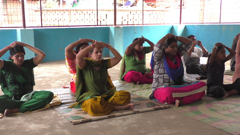 Yoga in Rajaji Colony (Slum Area), Thiruvananthapuram